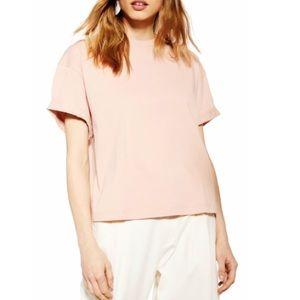 Topshop Pink Boxy Fit Tee Shirt
